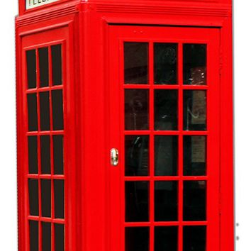 Telephone Booth Wall Art Laser Cut Out Metal  Sign 16″x32.5″
