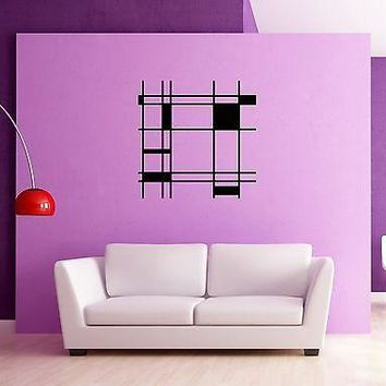 Wall Stickers Vinyl Decal Modern Abstract Cool Decor for Living Room  Unique Gift z1243