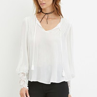 Contemporary Lace-Paneled Blouse   Forever 21 - 2000164119