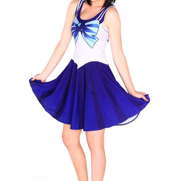 Drop Shipping  Summer Dress for   Vestidos Casual Woman Costume 10 Color Sailor Moon Style Cosplay Costume Fashion