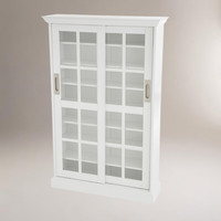 White Sliding Door Media Cabinet - World Market