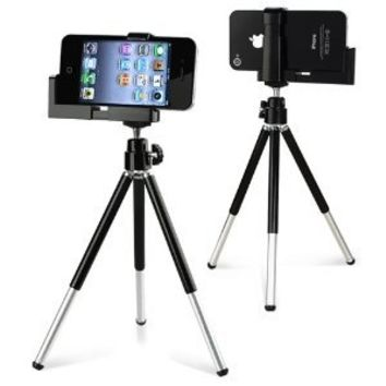eForcity Tripod Phone Holder for iPod nano (Black)