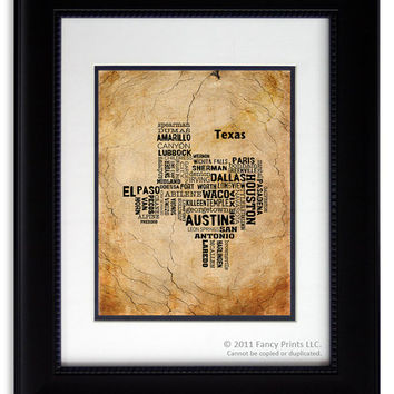 Christmas Gift for him Modern Wall Art Home Decor boy or men room decoration Housewarming gift TEXAS State Gift for husband birthday for him