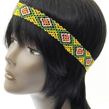 Lemon Pattern Micro Bead  Stretch ages Band