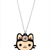Hey Chickadee - Doctor Cat necklace