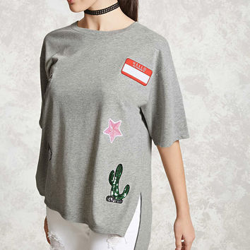 Patched French Terry Top