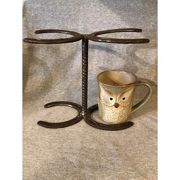 Pour Over Coffee Maker Horseshoe Stand for 2