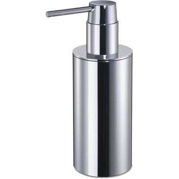 Lisa Pump Liquid Soap Lotion Dispenser for Bathroom, Kitchen, Solid Brass