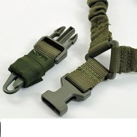 OD GREEN SLING One Point Bungee Rifle Strap Gun Sling w QD Buckle attachment