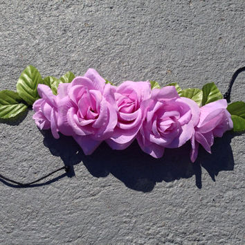 Lilac Roses Crown