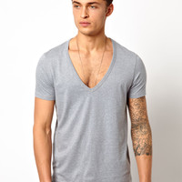 ASOS T-Shirt With Deep V Neck.