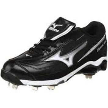 Mizuno Wave  Men's Metal 9-Spike Classic G6 Low Switch Baseball Cleat~  Black