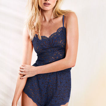 Lace Romper - Body by Victoria - Victoria's Secret