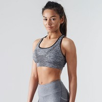 Seamless Sports Bra | Fitness Bra | Charcoal
