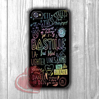 Bastille Lyrics Collage Phone Case Bastille -mt for iPhone 6S case, iPhone 5s case, iPhone 6 case, iPhone 4S, Samsung S6 Edge
