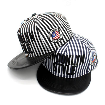 Couple Stripes Hip-hop Baseball Cap Summer Hot Sale Hats [4917716868]