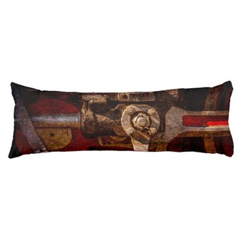 Vintage steam train gear body pillow