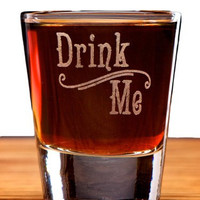 Drink Me Alice in Wonderland Swirl Style Shot Glass