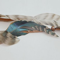 Feather Hair Accessories, Beautiful Feathers, Coachella Style Bohemian Hair Clip, Boho Chic Feather Clip