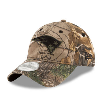 Men's New Era Realtree Camo New England Patriots 9TWENTY Adjustable Hat