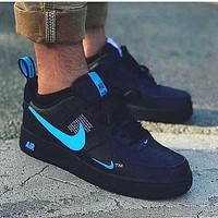 Free shipping-NIKE AIR FORCE 1 Tide brand men and women high-top sports shoes