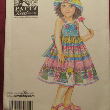 eed3f026b2e6 SALE Uncut Simplicity Sewing Pattern, 3817! Size 5-6-7-8 Girls/K. My date  dresses