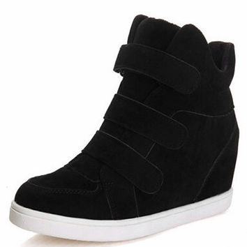 Hidden Heel Charm High Boots Height Increasing Women Sneakers Shoes = 1946034500