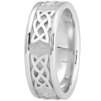 Wedding Band - Celtic Mens Wedding Ring in Platinum