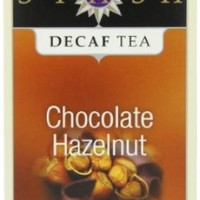Stash Tea Decaf Chocolate Hazelnut Tea, 18 Count Tea Bags in Foil (Pack of 6)