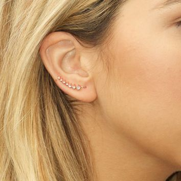 Sterling Forever | Graduated CZ Ear Crawlers | Nordstrom Rack