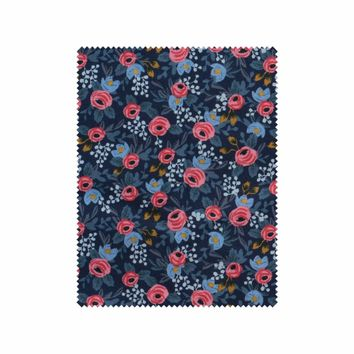 Rosa Floral (Navy) Cotton Fabric by Cotton + Steel   Made in Japan