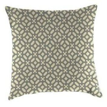 Outdoor Decorative Pillow Set Jordan Manufacturing Ebony Opaque White : Target