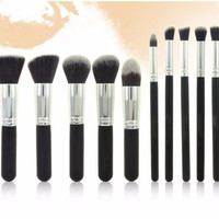 10PCS/Set Makup Brushes Foundation Eye Make up Woolen Set