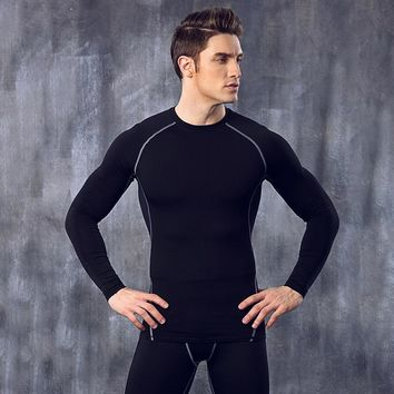 Tops + Pants Compression Men's Quick-Drying Long Johns Comfortable High Elastic Breathable Long Johns Sets Body Shapers JH807494
