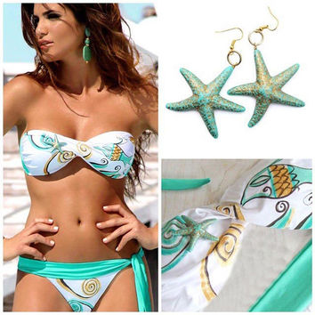 Hot Beach Summer Swimsuit New Arrival Swimwear Print Sexy Bra Ladies Bikini [9624664967]