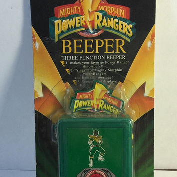 Vintage 1993 Green Ranger Power Rangers 3-Function Beeper