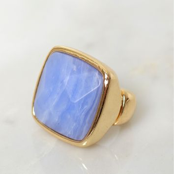 Whirl Pool Stone Ring Lavender