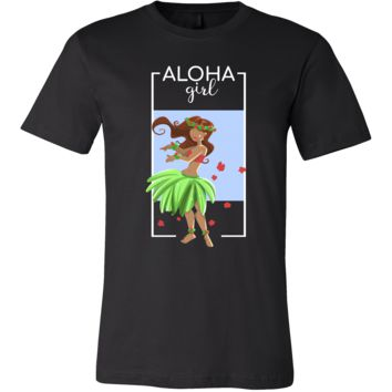 Hawaiian Hula Girl Vintage Hawaii Tropical Aloha T-shirt