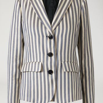 STRIPED LINEN BLEND JACKET for Women | Emporio Armani