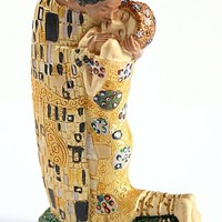 Pocket Art Klimt The Kiss Miniature Statue Cake Topper 3.75H