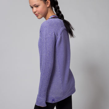 busy to be cozy pullover | ivivva