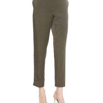Lightweight Twill Ankle Pants, Size: