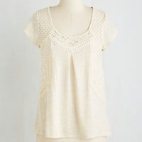 Mid-length Short Sleeves Sudoku Afternoon Top by ModCloth