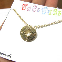 PRINT A - Gold or Silver Dainty Compass Necklace Great As Best Friend Gift or Gift For Best Friend