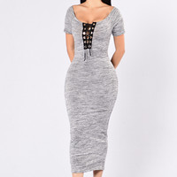 Pow Wow Dress - Grey