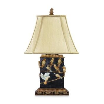 Dimond Lighting Traditional 20-Inch Birds on Branch Table Lamp