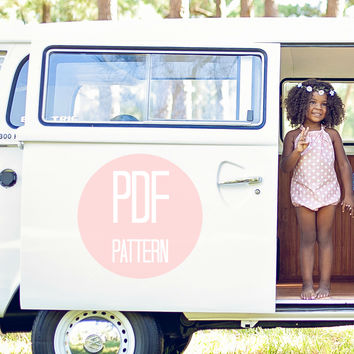 The Halter and Bow Romper | Downloadable Sewing Pattern