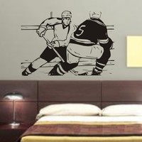 Ice Hockey Players NHL Decal Sticker Sports Wall by DabbleDown