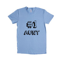 Number 1 Aunt Auntie Mom Moms Mother Mothers Grandparents Grandmother Children Kids Parent Parents Parenting Unisex Adult T Shirt SGAL3 Women's Shirt