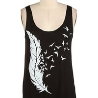 Birds of a Feather Tank - Black